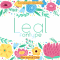 Illustration of font Leal