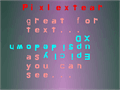 Illustration of font Pixlextear