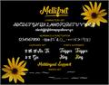 Illustration of font Mellifret_Demo
