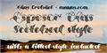 Illustration of font Espesor Olas Half