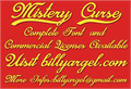 Illustration of font Mistery Curse Personal Use