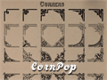 Illustration of font CornPop