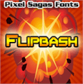 Illustration of font Flipbash