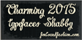 Illustration of font Charming shabby demo