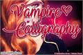 Illustration of font Vampire Calligraphy
