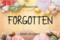 Illustration of font FORGOTTEN
