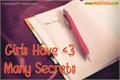 Illustration of font Girls Have Many Secrets