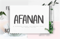 Illustration of font afanan