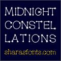 Illustration of font MidnightConstellations