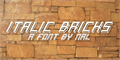 Illustration of font Italic Bricks