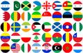 Illustration of font flags world color