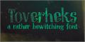 Illustration of font DK Toverheks