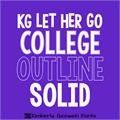Illustration of font KG LET HER GO