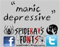Illustration of font manic-depressive