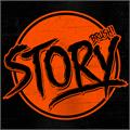 Illustration of font DHF Story Brush