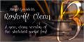 Illustration of font Roskrift Clean