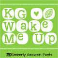 Illustration of font KG Wake Me Up