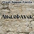 Illustration of font Anglodavek