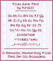 Illustration of font pixel-love