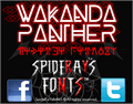 Illustration of font WAKANDA PANTHER