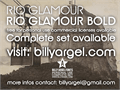Illustration of font Rio Glamour personal use