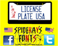 Illustration of font LICENSE PLATE USA