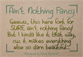Illustration of font Aint Nothing Fancy