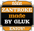 Illustration of font Zantroke