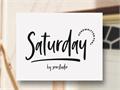 Illustration of font Saturday Vibes