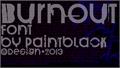 Illustration of font BurnOut