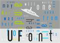 Illustration of font UFont