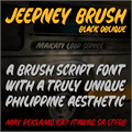 Illustration of font Jeepney Brush