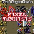 Illustration of font Pixel Takhisis