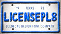 Illustration of font LicensePl8