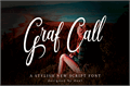 Illustration of font Graf Call free