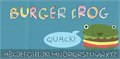 Illustration of font Burger Frog DEMO