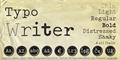 Illustration of font Typo Writer Demo