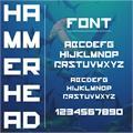 Illustration of font hammerhead