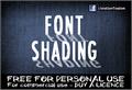Illustration of font CF Font Shading