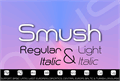 Illustration of font Smush