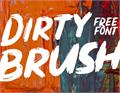 Illustration of font Dirty Brush