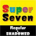 Illustration of font SUPER SEVEN Demo