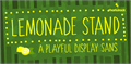 Illustration of font Lemonade Stand