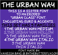 Illustration of font The Urban Way