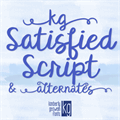 Illustration of font KG Satisfied Script