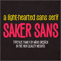 Illustration of font Saker Sans Light PERSONAL USE