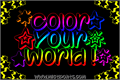 Illustration of font Color Your World