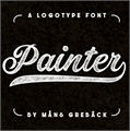 Illustration of font Painter PERSONAL USE ONLY