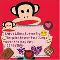 Illustration of font love like a butterfly by OUBYC