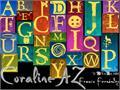 Illustration of font CoralineAZ